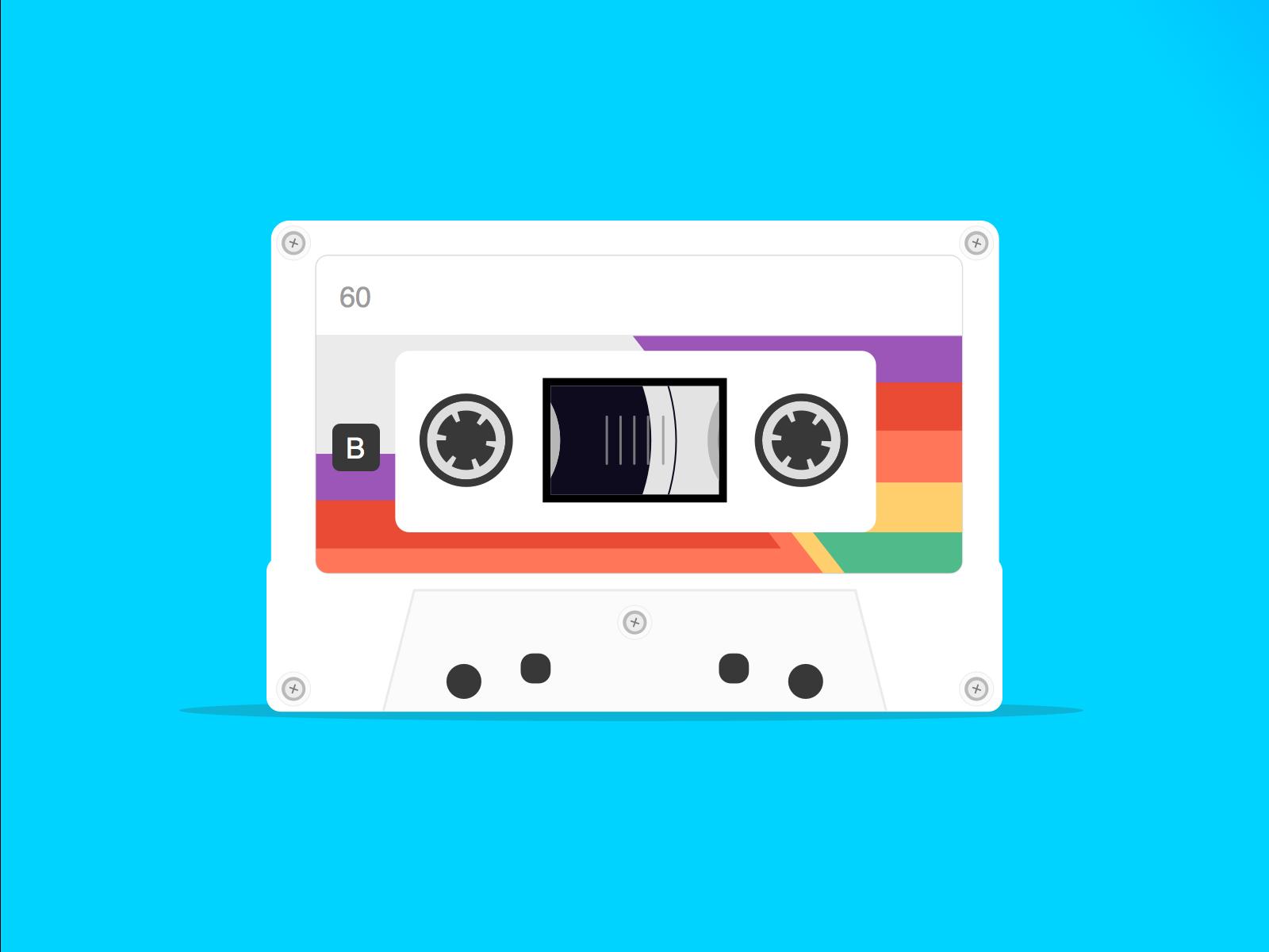 Vintage tapes long retro
