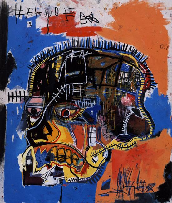 street, art, skull. basquiat, banksy